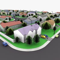 3d model neighborhood block