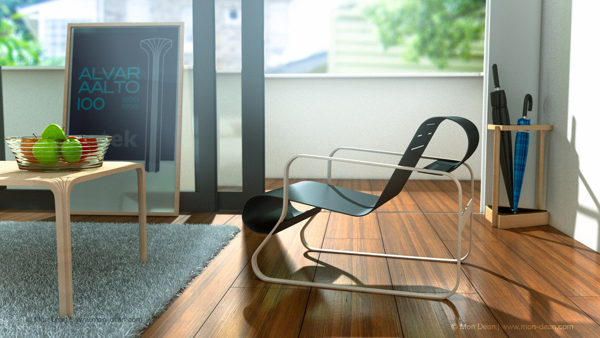 cinema4d designs alvar aalto 1 interior