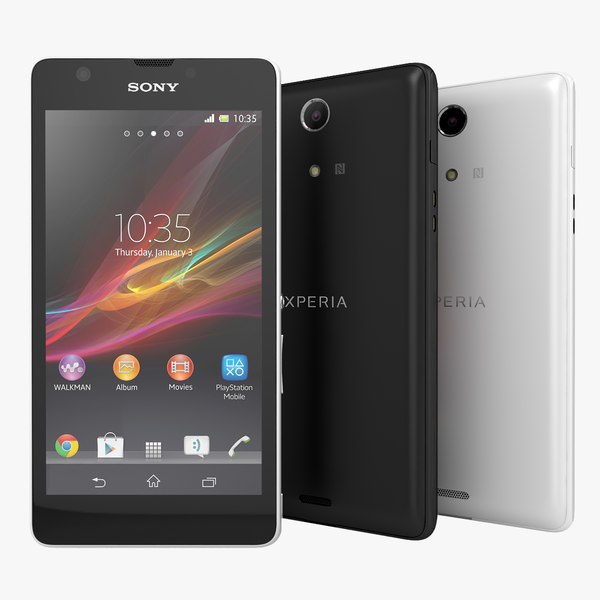 Sony Xperia ZR Smartphone Black And White