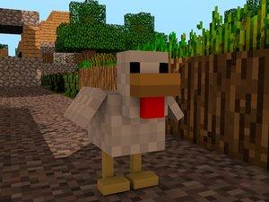 3d minecraft chicken rig