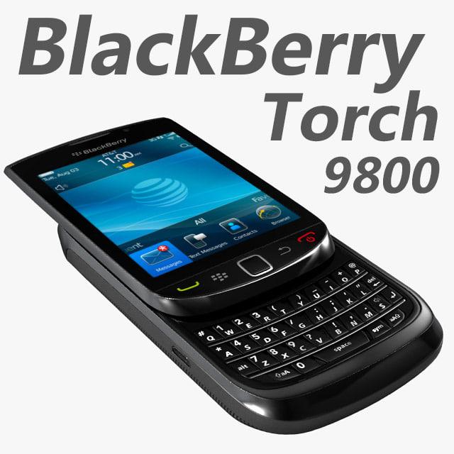 3d model blackberry torch 9800