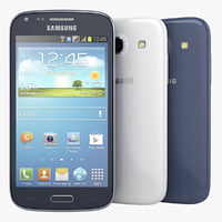 samsung galaxy core blue 3d 3ds