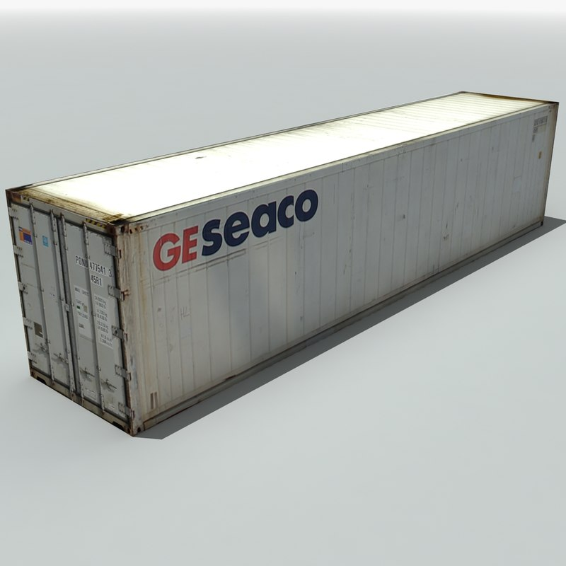 shipping cargo container 3d 3ds