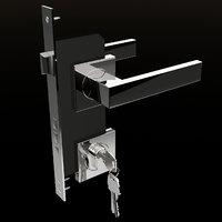 3d door handle model