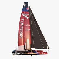 america s catamaran etnz 3d model