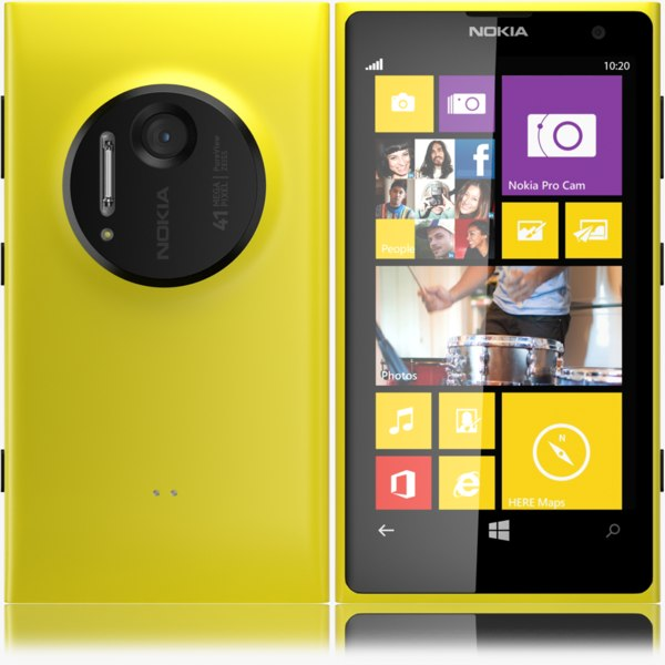 3d max nokia lumia 1020 yellow