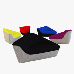 3d model seating stones
