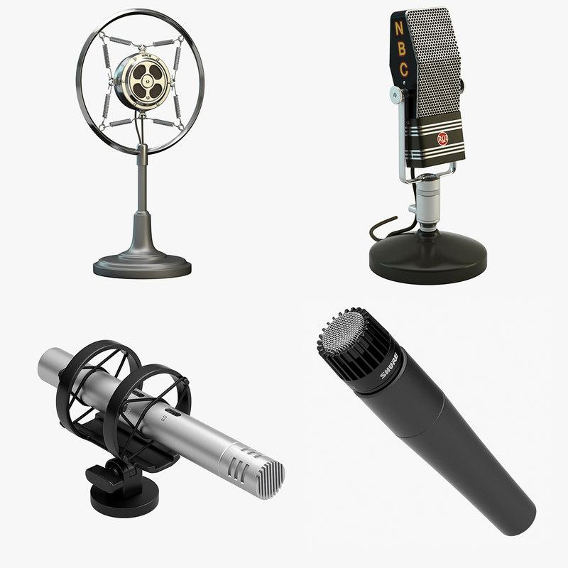 4 microphones set max