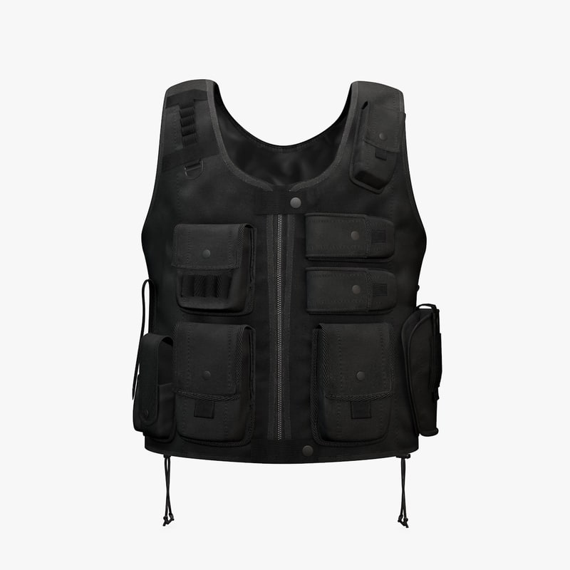 3ds max tactical entry vest black