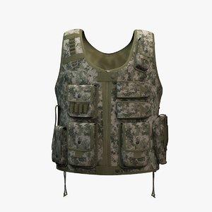 military vest 3d model