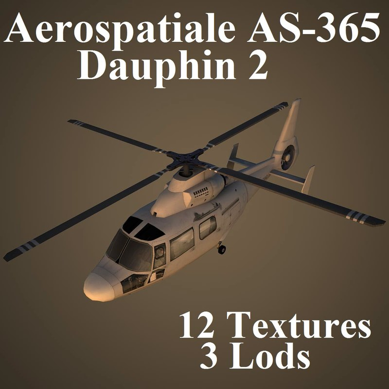 3d aerospatiale as-365 dauphin