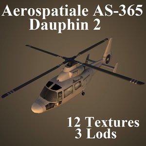 3d aerospatiale as-365 dauphin