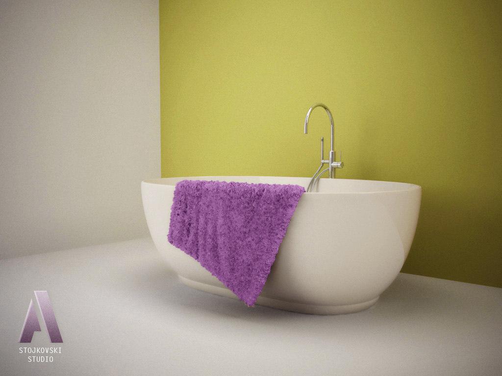 eggshell bathtub 3d model