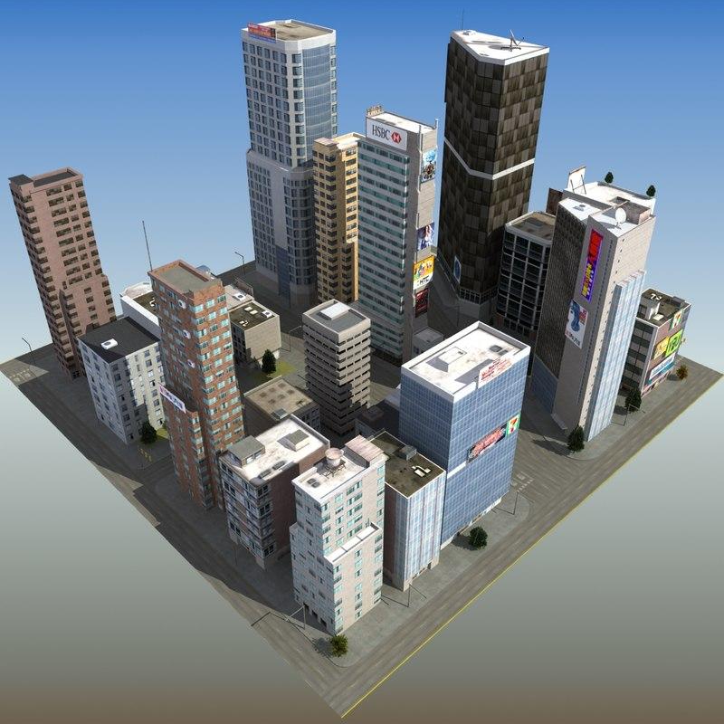 skyscraper city block max