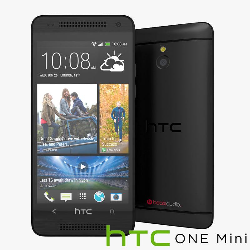 3d model htc mini smartphone