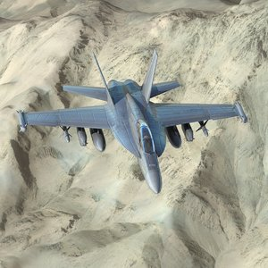 3ds max boeing f18g growler navy