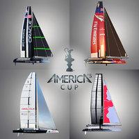3d model america s cup boats