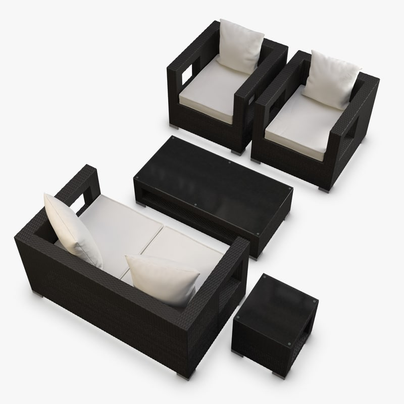 3d model furniture synthetic rattan. model furniture synthetic rattan