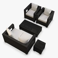 3d model furniture synthetic rattan