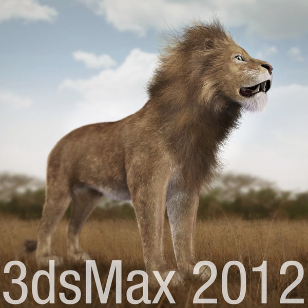 3ds max lion fur