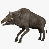 entelodont pigs 3d model