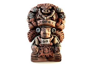 3d decorative mayan god maize model