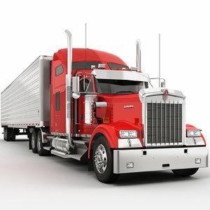 3d w900 trailer model