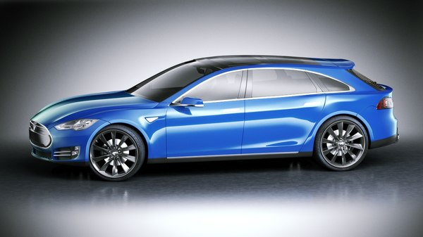 tesla s wagon modeled 3d model