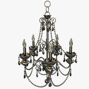 mischief 5-light chandelier 3d model