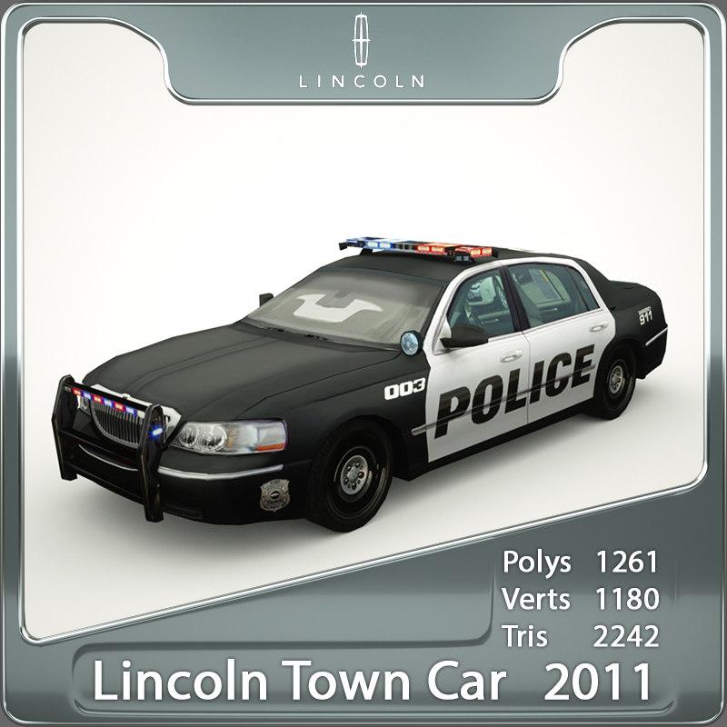2011 town car 3d max