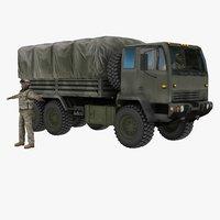 3d model m1083 mtv army truck
