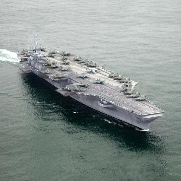 aircraft carrier navy air 3d max