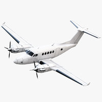 beechcraft king air 250 3d 3ds