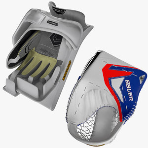 Ice Hockey Catch and Blocker Gloves