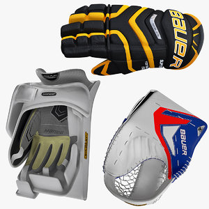 ice hockey gloves 3d 3ds