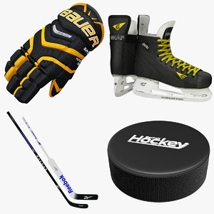 3d ice hockey gloves skates
