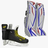 ice hockey leg pads 3d max