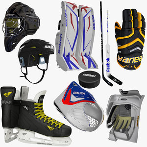 3d ice hockey equipment
