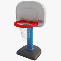 3ds max little kids basketball hoop