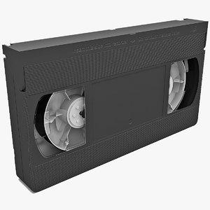 3d vhs cassette