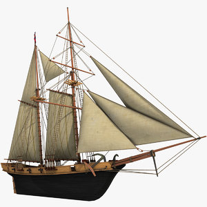 Sailboat Halcon Schooner