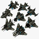 8 Small Space Ships
