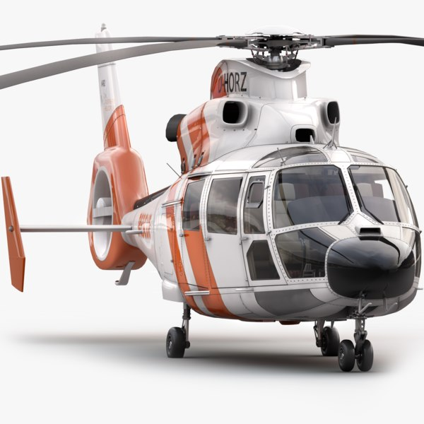 3d model of eurocopter 365 offshore rescue helicopter