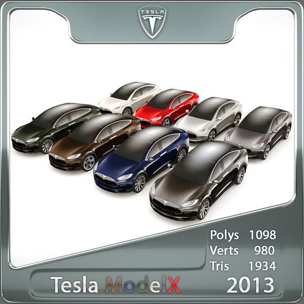 2013 Tesla Model X custom colours
