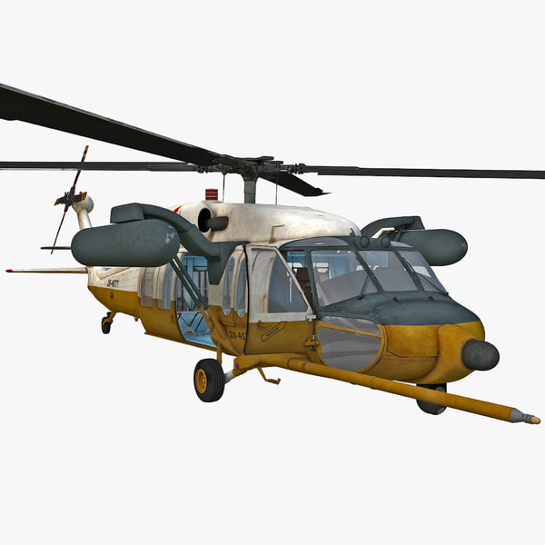 3ds max mh-60 black hawk 2