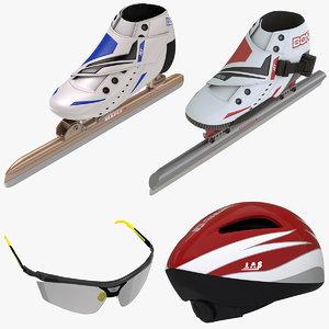 3d model of speed skating