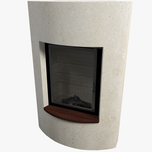 fireplace v10 interior 3d model