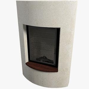 fireplace v10 interior 3d model