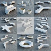 3d planters escofet model