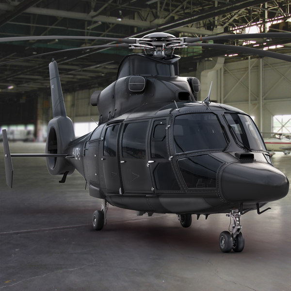 3d model eurocopter private black